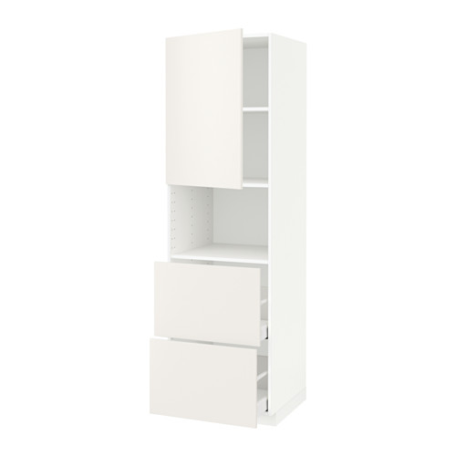 METOD/MAXIMERA - hi cab f micro w door/2 drawers, white/Veddinge white | IKEA 香港及澳門 - PE589355_S4