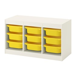 TROFAST - storage combination with boxes, white/yellow | IKEA Hong Kong and Macau - PE649615_S3