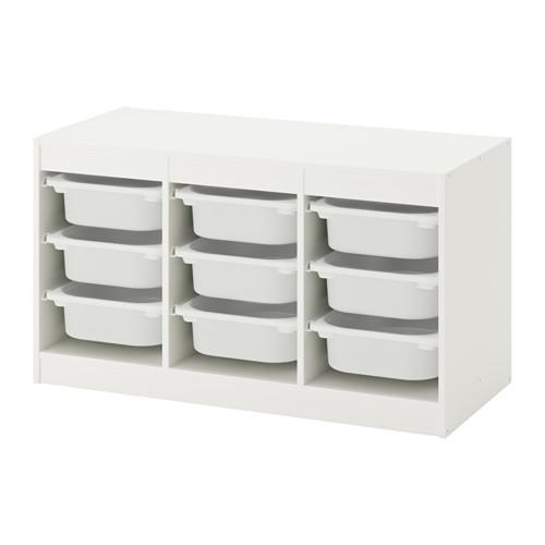 TROFAST - storage combination with boxes, white/white | IKEA Hong Kong and Macau - PE649618_S4