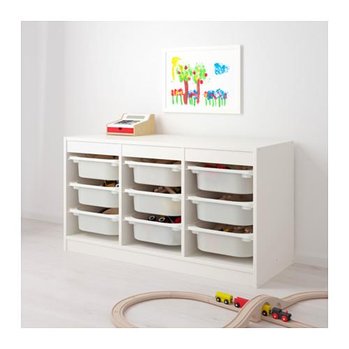 TROFAST - storage combination with boxes, white/white | IKEA Hong Kong and Macau - PE649619_S4