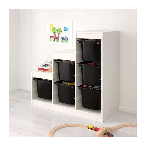 TROFAST - storage combination, white/black | IKEA Hong Kong and Macau - PE649632_S4
