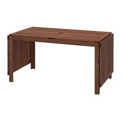 ÄPPLARÖ - drop-leaf table, outdoor, brown stained | IKEA Hong Kong and Macau - PE740162_S3