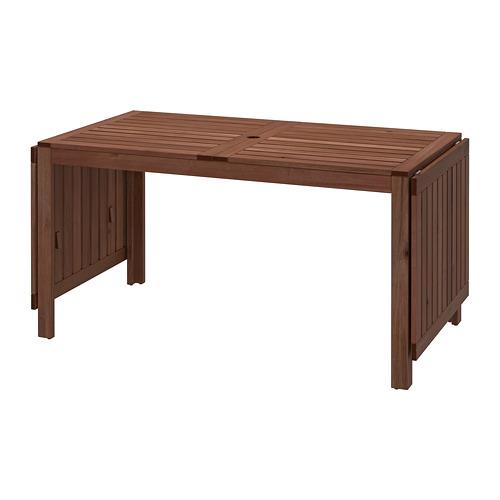 ÄPPLARÖ - drop-leaf table, outdoor, brown stained | IKEA Hong Kong and Macau - PE740162_S4