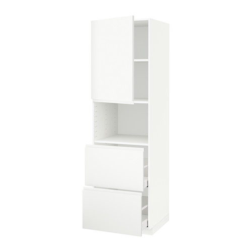 METOD/MAXIMERA - hi cab f micro w door/2 drawers, white/Voxtorp matt white | IKEA Hong Kong and Macau - PE589393_S4