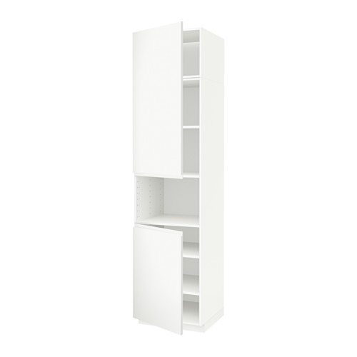 METOD - high cab f micro w 2 doors/shelves, white/Voxtorp matt white | IKEA Hong Kong and Macau - PE589406_S4