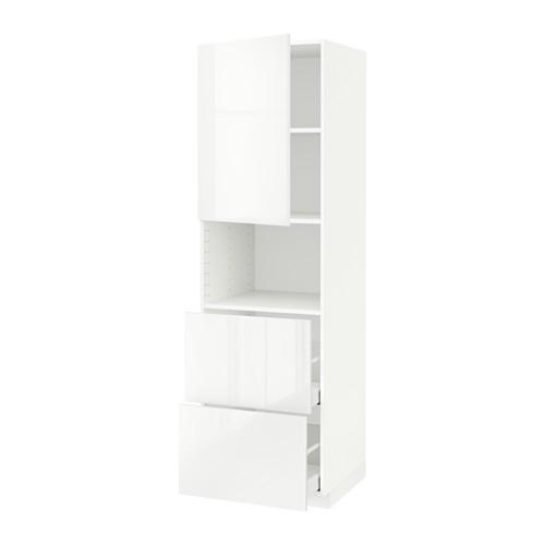 METOD/MAXIMERA hi cab f micro w door/2 drawers