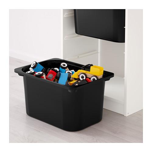 TROFAST - storage combination with boxes, white/white black | IKEA Hong Kong and Macau - PE649657_S4