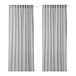 HILJA - 窗簾,一對, 灰色 | IKEA 香港及澳門 - PE649658_S3