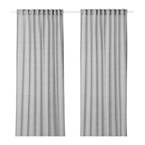 HILJA - 窗簾,一對, 灰色 | IKEA 香港及澳門 - PE649658_S4