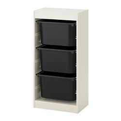 TROFAST - storage combination with boxes, white/black | IKEA Hong Kong and Macau - PE649682_S3