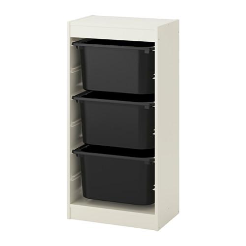 TROFAST - storage combination with boxes, white/black | IKEA Hong Kong and Macau - PE649682_S4