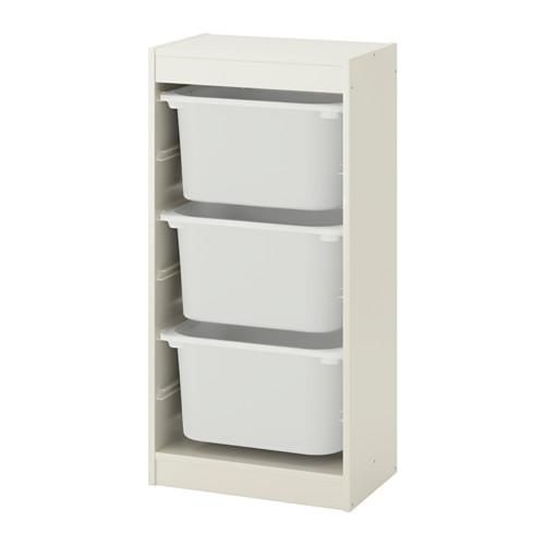 TROFAST - storage combination with boxes, white/white | IKEA Hong Kong and Macau - PE649685_S4