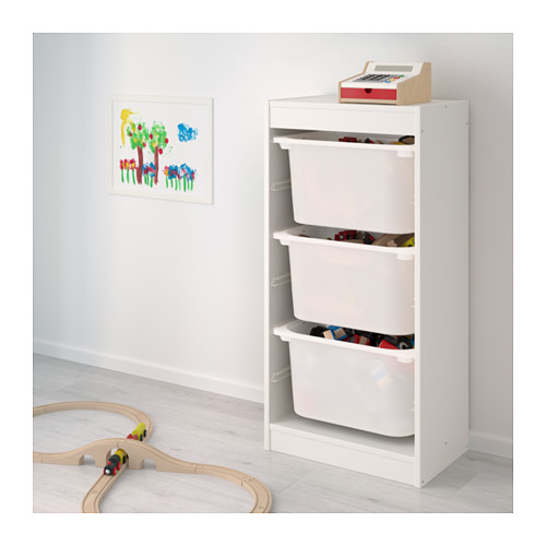 TROFAST - storage combination with boxes, white/white | IKEA Hong Kong and Macau - PE649686_S4