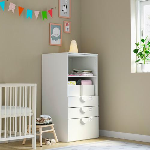 PLATSA/SMÅSTAD - bookcase, white white/with 3 drawers | IKEA Hong Kong and Macau - PE792965_S4