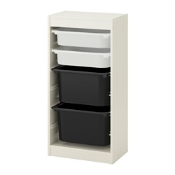 TROFAST - storage combination with boxes, white/white black | IKEA Hong Kong and Macau - PE649694_S3