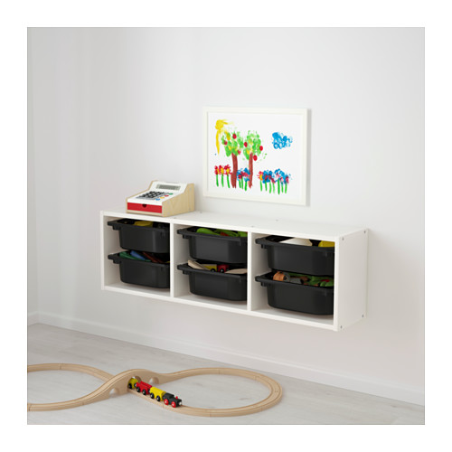 TROFAST - wall storage, white/black | IKEA Hong Kong and Macau - PE649704_S4