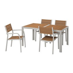 SJÄLLAND - 戶外檯連扶手椅組合, 淺褐色/淺灰色 | IKEA 香港及澳門 - PE740290_S3