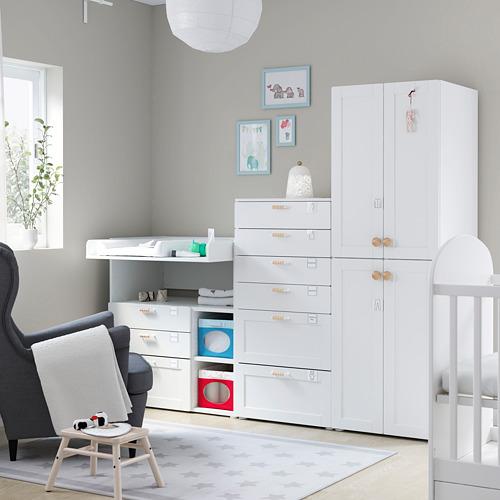 PLATSA/SMÅSTAD - 貯物組合, white with frame/with changing table   IKEA 香港及澳門 - PE793034_S4
