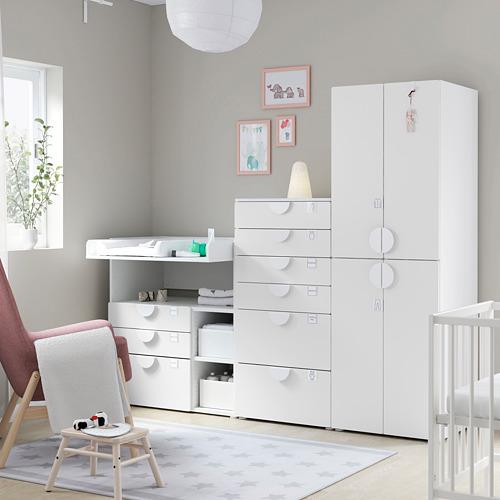 PLATSA/SMÅSTAD - 貯物組合, white white/with changing table | IKEA 香港及澳門 - PE793037_S4