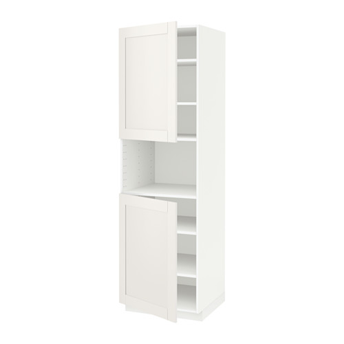 METOD - high cab f micro w 2 doors/shelves, white/Sävedal white | IKEA Hong Kong and Macau - PE524624_S4