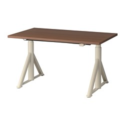 IDÅSEN - 升降式書檯, 褐色/米黃色 | IKEA 香港及澳門 - PE697665_S3