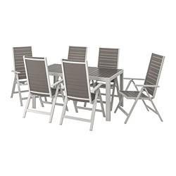 SJÄLLAND - 戶外檯連躺椅組合, 深灰色/淺灰色 | IKEA 香港及澳門 - PE740398_S3
