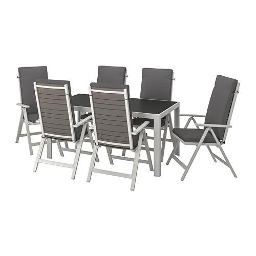SJÄLLAND - 戶外檯連躺椅組合, 玻璃/Frösön/Duvholmen 深灰色   IKEA 香港及澳門 - PE740385_S4