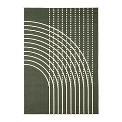 TÖMMERBY - 室內/戶外用平織地氈, dark green/off-white | IKEA 香港及澳門 - PE793151_S3