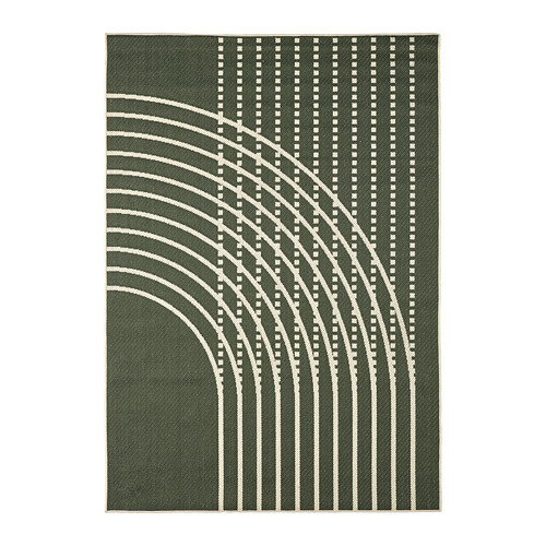 TÖMMERBY - rug flatwoven, in/outdoor, dark green/off-white | IKEA Hong Kong and Macau - PE793151_S4