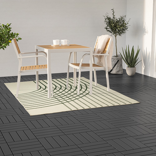 TÖMMERBY - rug flatwoven, in/outdoor, dark green/off-white | IKEA Hong Kong and Macau - PE793150_S4