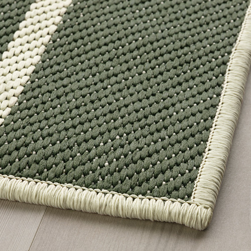 TÖMMERBY - rug flatwoven, in/outdoor, dark green/off-white | IKEA Hong Kong and Macau - PE793149_S4