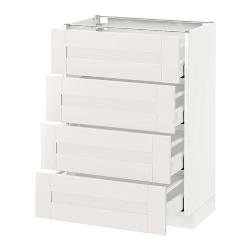 METOD - 地櫃連4面板/4抽屜, 白色 Maximera/Sävedal 白色   IKEA 香港及澳門 - PE524633_S4