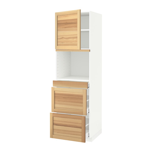 METOD/MAXIMERA - hi cab f micro combi w door/3 drwrs, white/Torhamn ash | IKEA Hong Kong and Macau - PE589898_S4
