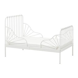 MINNEN - ext bed frame with slatted bed base, white | IKEA Hong Kong and Macau - PE697771_S3