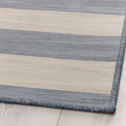 VRENSTED - rug flatwoven, in/outdoor, beige/light blue | IKEA Hong Kong and Macau - PE793188_S4