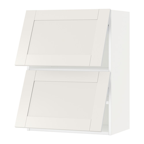 METOD - wall cab horizo 2 doors w push-open, white/Sävedal white | IKEA Hong Kong and Macau - PE524691_S4