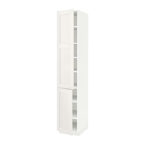 METOD - high cabinet with shelves/2 doors, white/Sävedal white | IKEA Hong Kong and Macau - PE524695_S4