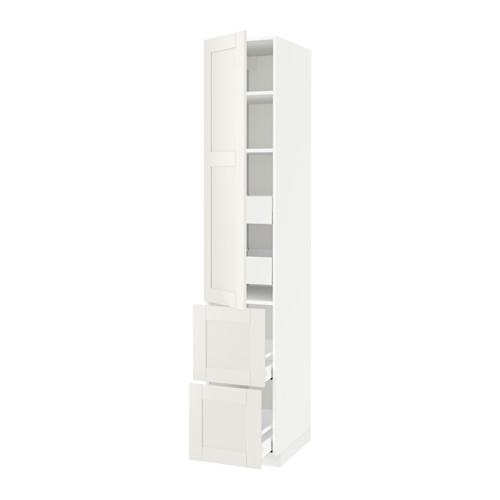 METOD/MAXIMERA - hi cab w shlvs/4 drawers/dr/2 frnts, white/Sävedal white   IKEA Hong Kong and Macau - PE524705_S4