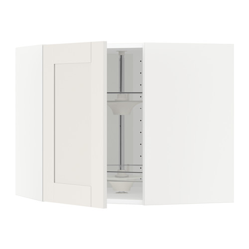 METOD - corner wall cabinet with carousel, white/Sävedal white | IKEA Hong Kong and Macau - PE524711_S4