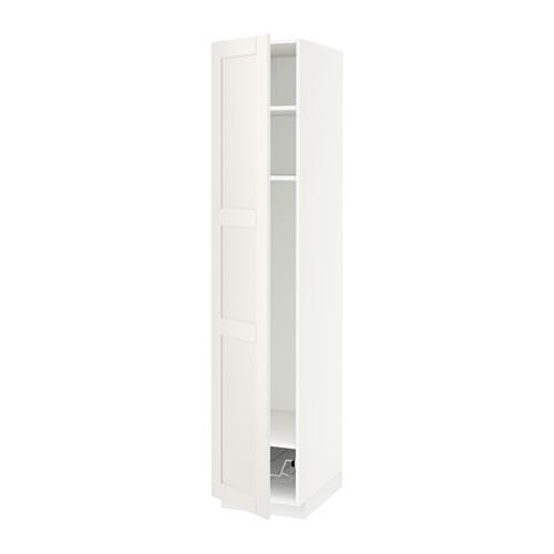 METOD - high cabinet w shelves/wire basket, white/Sävedal white | IKEA Hong Kong and Macau - PE524713_S4
