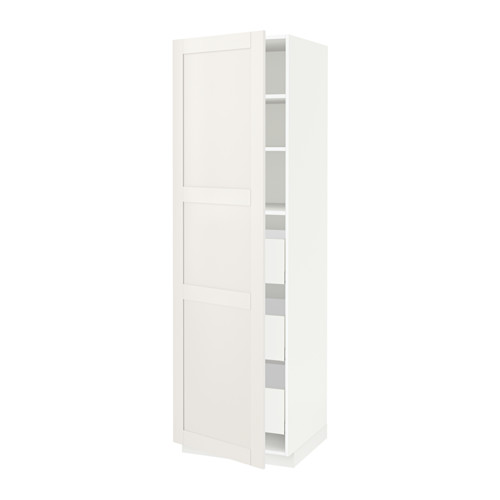 METOD/MAXIMERA - high cabinet with drawers, white/Sävedal white | IKEA Hong Kong and Macau - PE524739_S4