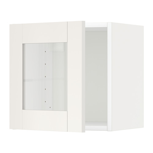 METOD - wall cabinet with glass door, white/Sävedal white   IKEA Hong Kong and Macau - PE524742_S4