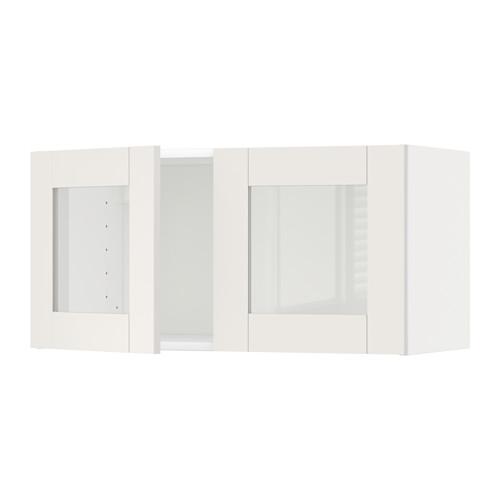 METOD - wall cabinet with 2 glass doors, white/Sävedal white   IKEA Hong Kong and Macau - PE524743_S4