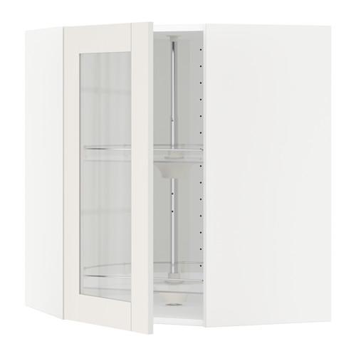 METOD - 角位吊櫃連旋轉架/玻璃門, 白色/Sävedal 白色 | IKEA 香港及澳門 - PE524757_S4