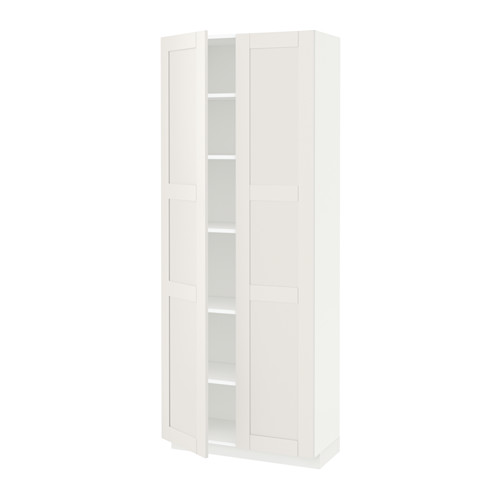 METOD - high cabinet with shelves, white/Sävedal white | IKEA 香港及澳門 - PE524759_S4