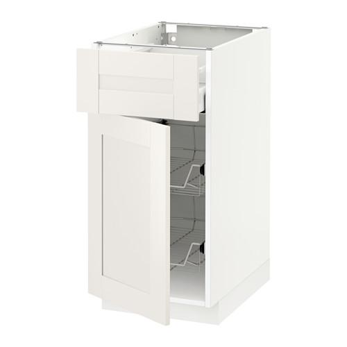 METOD/MAXIMERA - base cab w wire basket/drawer/door, white/Sävedal white | IKEA Hong Kong and Macau - PE524776_S4