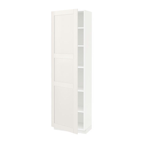METOD - high cabinet with shelves, white/Sävedal white | IKEA 香港及澳門 - PE524785_S4