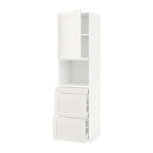 METOD/MAXIMERA - hi cab f micro combi w door/3 drwrs, white/Sävedal white   IKEA 香港及澳門 - PE590053_S4
