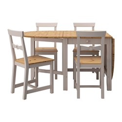 GAMLEBY - table and 4 chairs, light antique stain/grey | IKEA Hong Kong and Macau - PE527621_S3