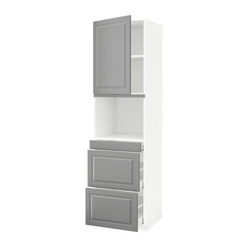 METOD/MAXIMERA - hi cab f micro combi w door/3 drwrs, white/Bodbyn grey | IKEA Hong Kong and Macau - PE590114_S4